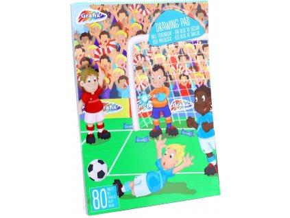 Grafix skicák Fotbal 80 listů A4