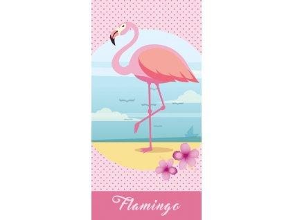 Dětská osuška Flamingo 70x140 cm