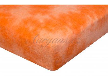 Aaryans Batikované prostěradlo froté oranžové