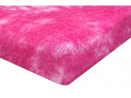 Aaryans Batikované prostěradlo froté růžové