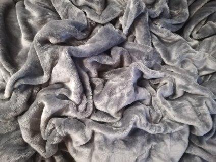 Aaryans Prostěradlo mikroflanel šedé