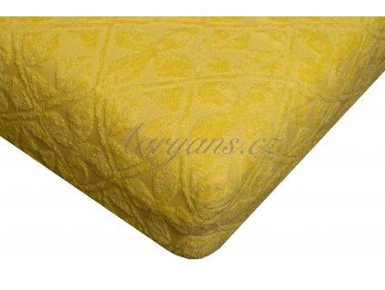 Aaryans Prostěradlo žakár 200 x 160 cm žluté