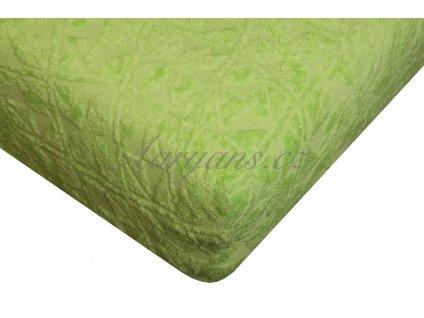 Aaryans Prostěradlo žakár 200 x 160 cm zelené