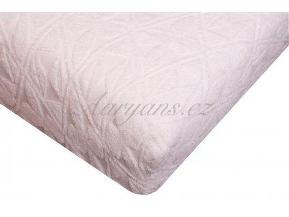 Aaryans Prostěradlo žakár 200 x 160 cm bílé