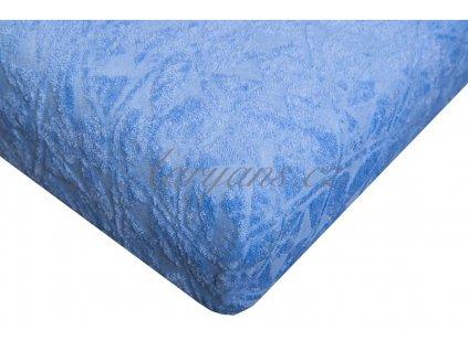 Aaryans Prostěradlo žakár 200 x 180 cm modré