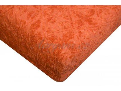 Aaryans Prostěradlo žakár 200 x 180 cm oranžové
