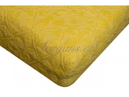 Prostěradlo žakár 200x220 cm žluté