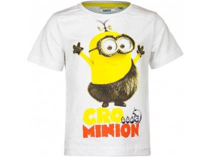 Dětské bavlněné tričko MIMONI EP 1578 - vel. 116 cm - BÍLÉ