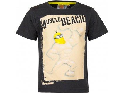 Dětské bavlněné tričko MIMONI EP 1578 - vel. 104 cm - ČERNÉ