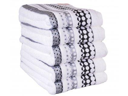Froté ručník SILVER BÍLÝ, 50x90 cm