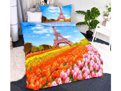 Povlečení 3D Paříž new 140x200/70x90
