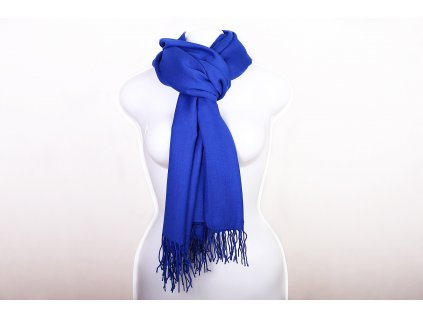 Dámský šál modrý royal
