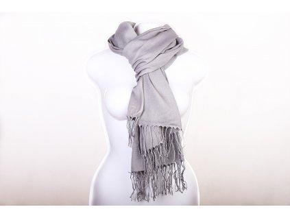 Dámský šál světle šedý