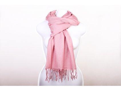 Dámský šál tmavě růžový