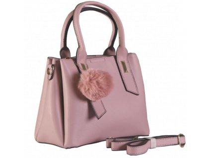 Dámská kabelka s bambulkou JBFB 330 růžová