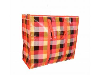 Nákupní taška červená– velká (60 × 67 × 27 cm)