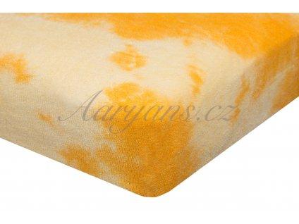 Aaryans Batikované prostěradlo froté žluté