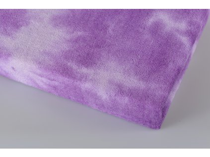 Aaryans Batikované froté prostěradlo fialové