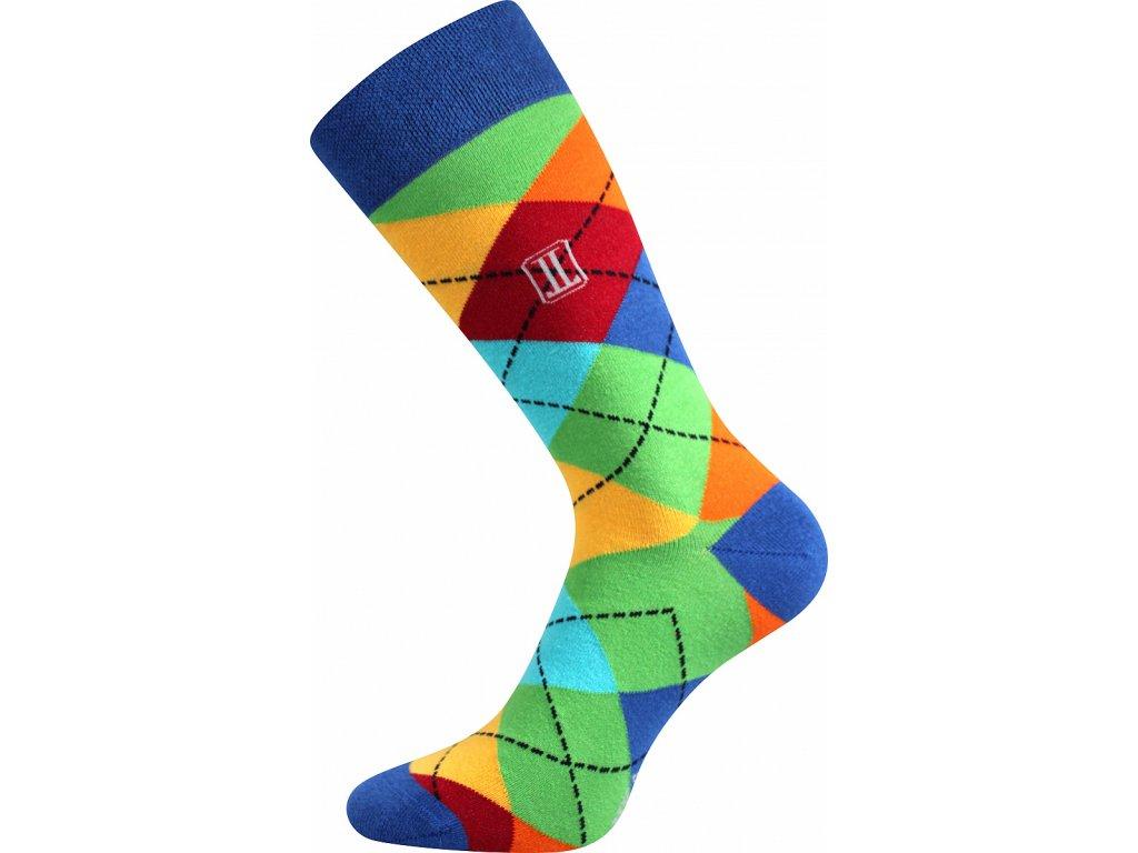 Ponožky DIKARUS KÁRO modrá A veselé obrázkové vtipné superfit store