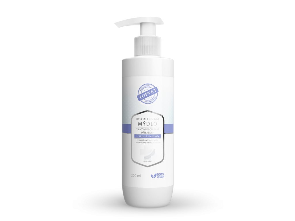 hypoalergenni mydlo s antimikrobialni prisadou s prirodnimi extrakty superfit store