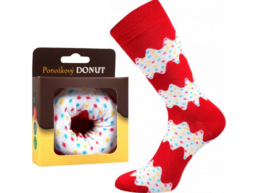 ponozky donut bila vesele obrazkove vtipne superfit store