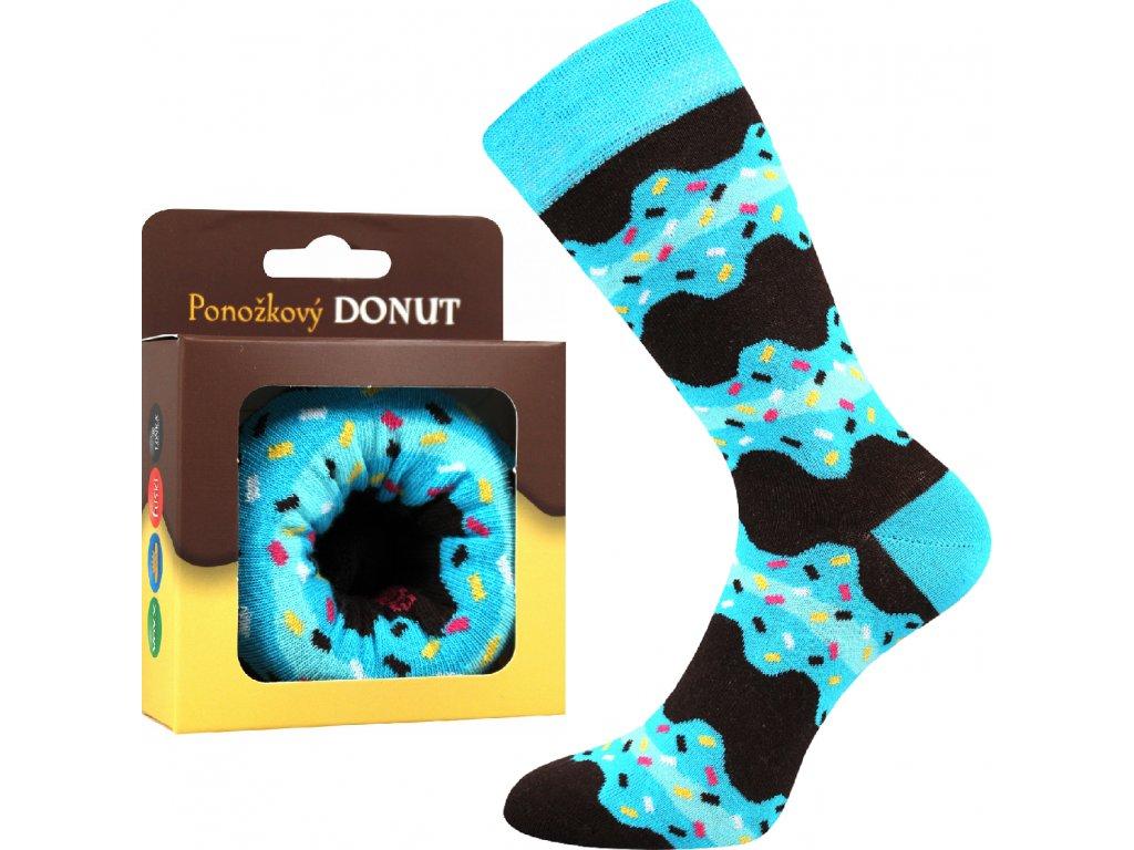 ponozky donut modra vesele obrazkove vtipne superfit store