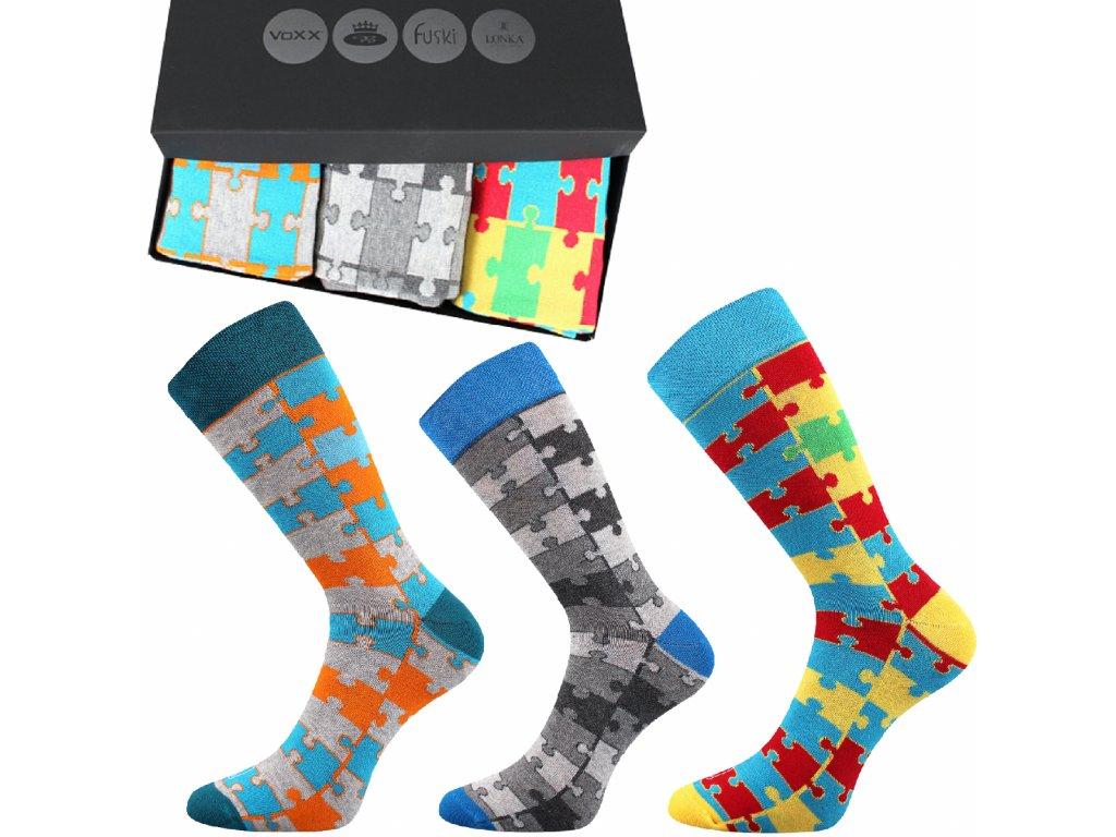 ponozky webox011 3pary puzzle darkove baleni superfit store (3)