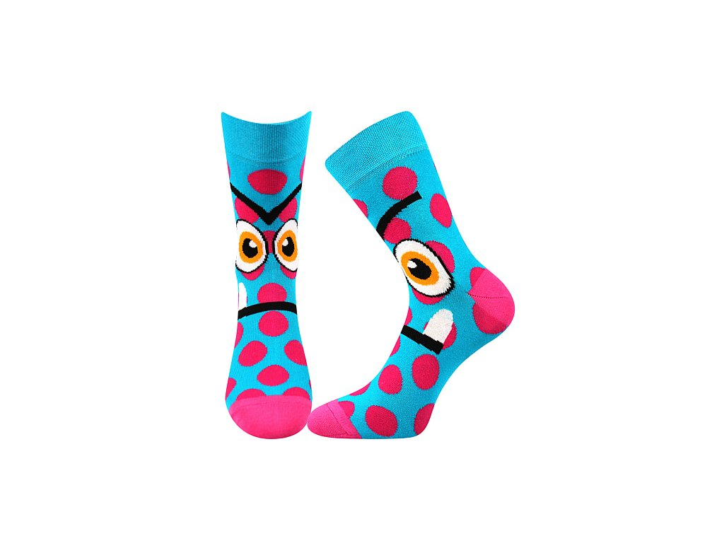 ponozky ksichtik tyrkys vesele obrazkove vtipne superfit store