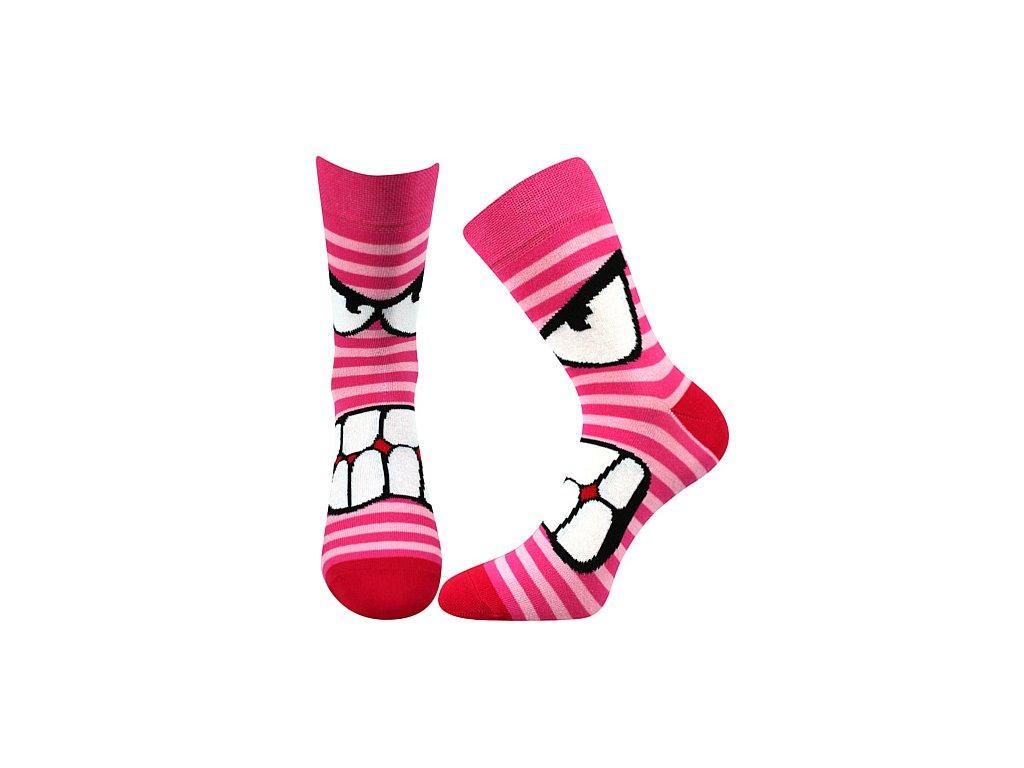 ponozky ksichtik magenta vesele obrazkove vtipne superfit store