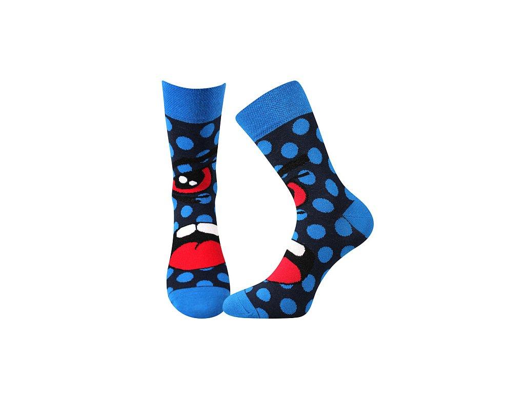 ponozky ksichtik modra a vesele obrazkove vtipne superfit store