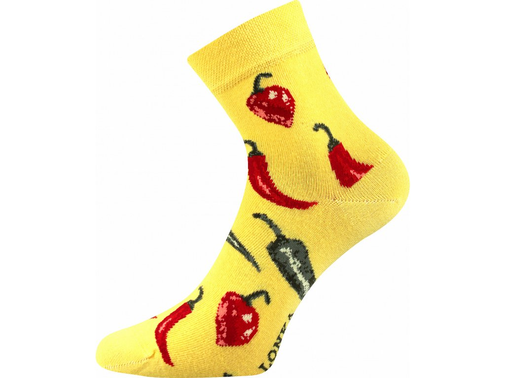 ponozky chilli dedot zluta a vesele obrazkove vtipne superfit store