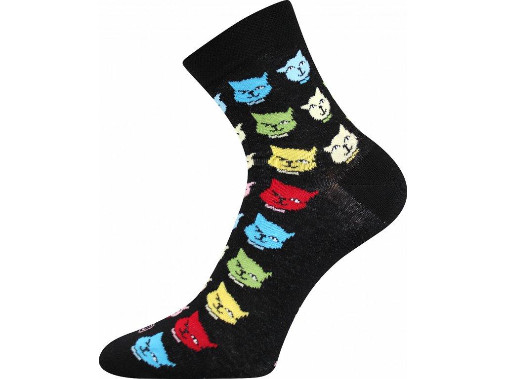 ponozky kocky weels cerna a vesele obrazkove vtipne superfit store