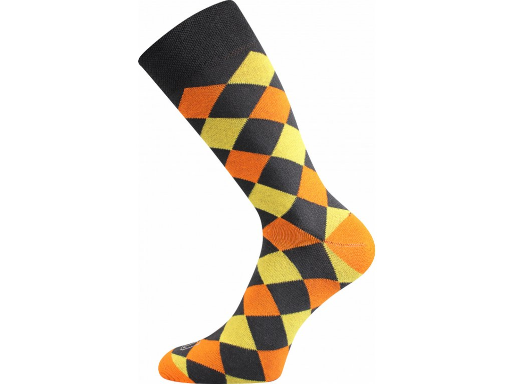 ponozky wearel018 kosoctverce zluta a vesele obrazkove vtipne superfit store
