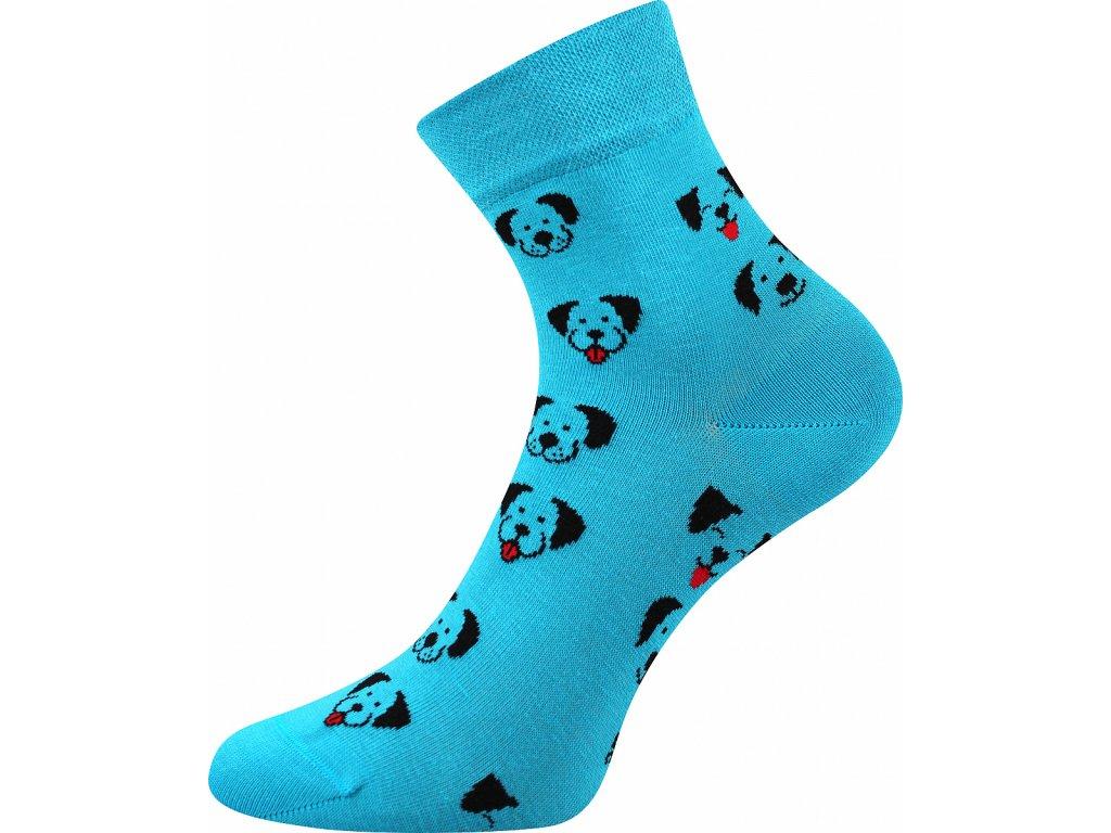 ponozky pejsci felixa tyrkys vesele obrazkove vtipne superfit store