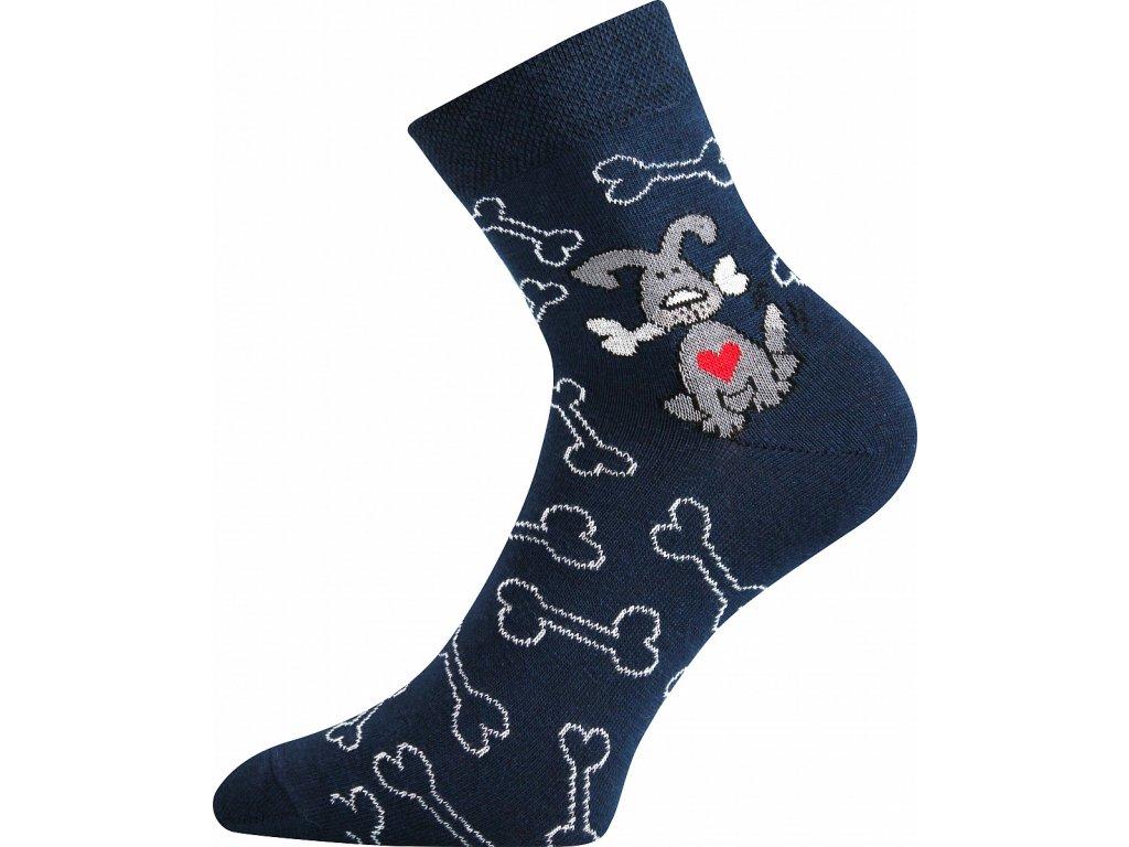 ponozky pejsek xantipa 57 modra b vesele obrazkove vtipne superfit store