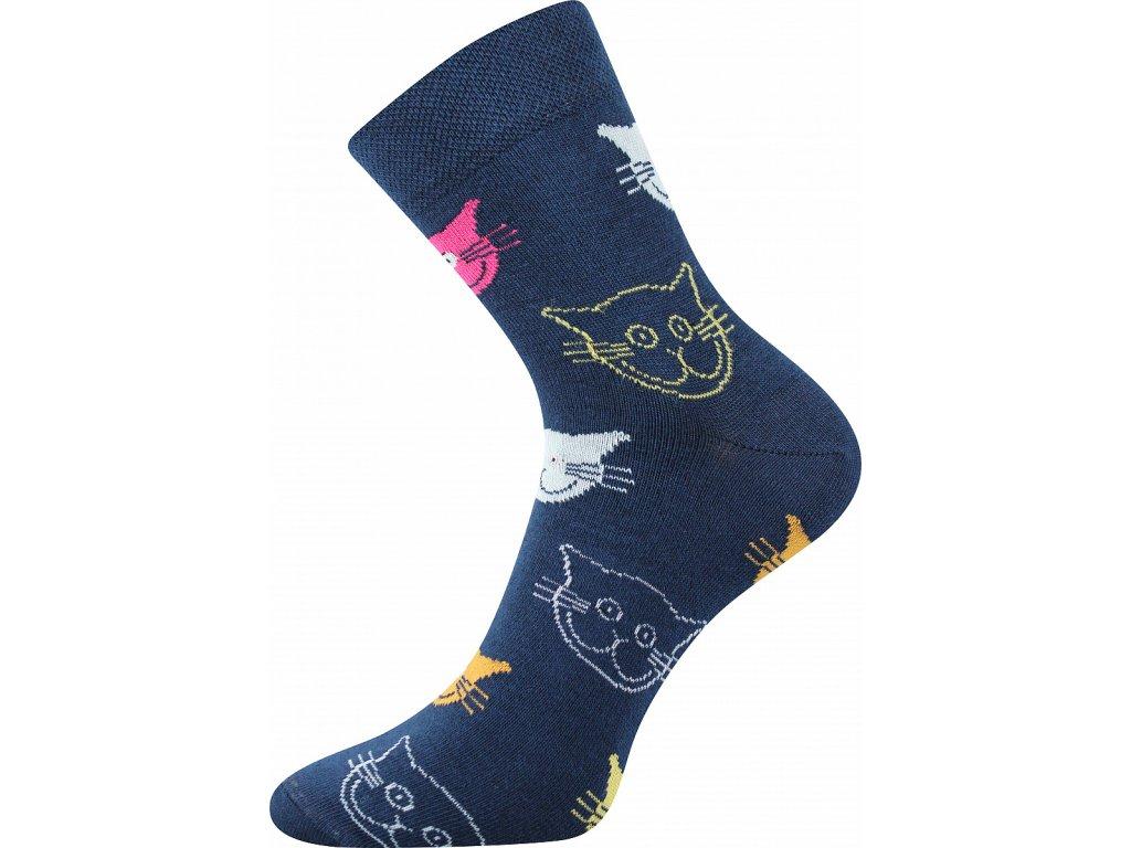 ponozky kocky xantipa 45 modra a vesele obrazkove vtipne superfit store