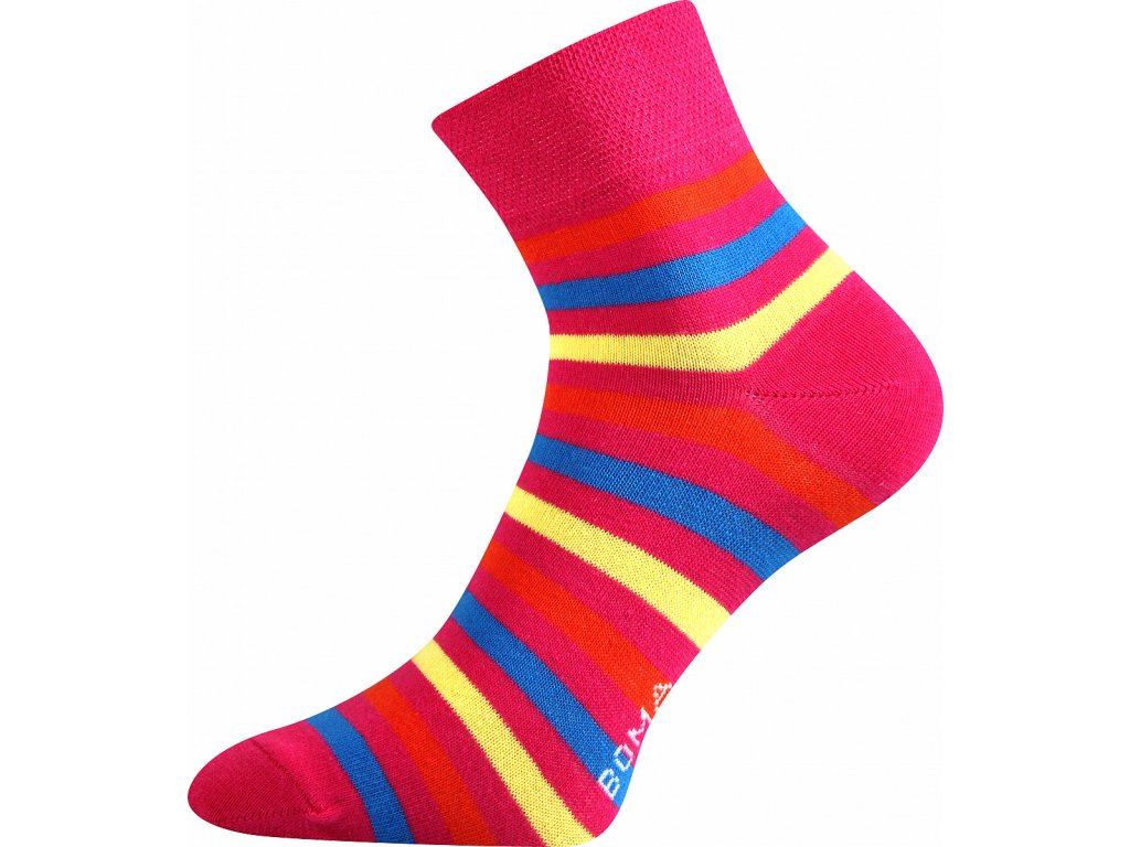 ponozky prouzky jana 42 magenta vesele obrazkove vtipne superfit store