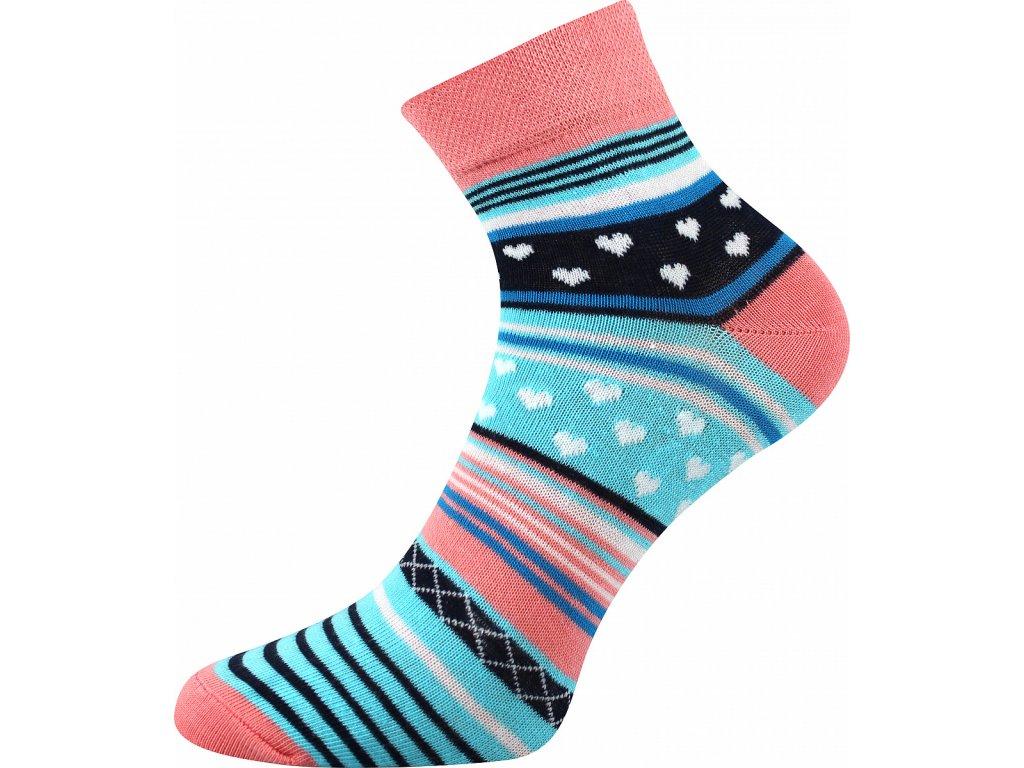 ponozky srdicka jana 51 lososova vesele obrazkove vtipne superfit store