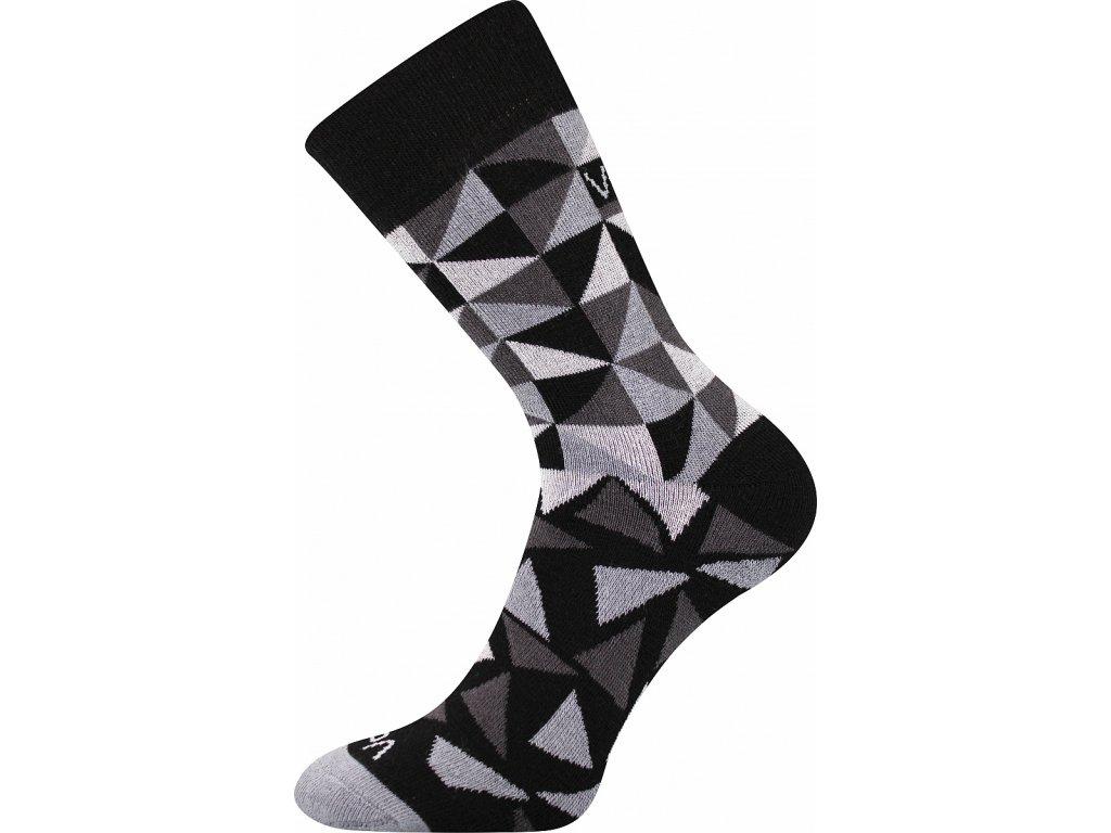 ponozky matrix cerna a vesele obrazkove vtipne superfit store