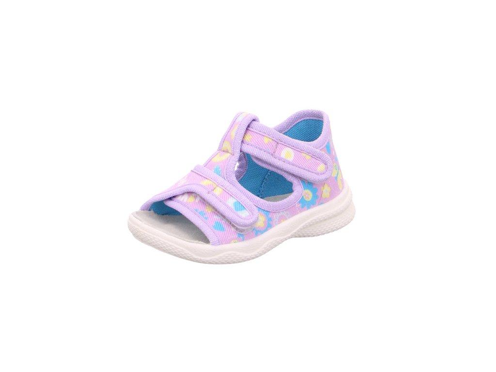 Dětské dívčí kotníkové sandály Superfit 0-600293-9000 (Velikosti 19)