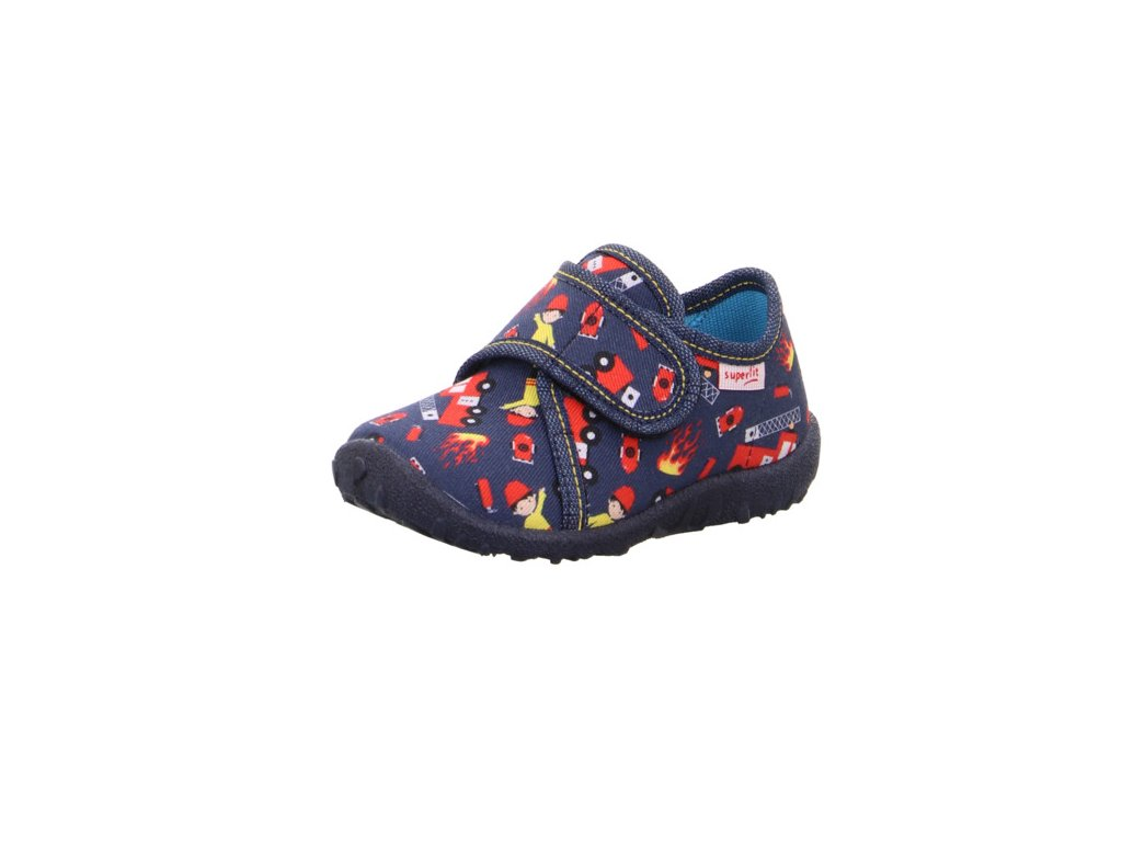 detske chlapecke domaci kotnikove papuce superfit spotty 1 009246 8500