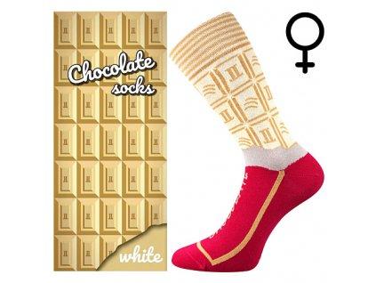 ponozky chocolate bila cokolada darkove baleni superfit store (3)