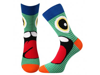 ponozky ksichtik zelena b vesele obrazkove vtipne superfit store
