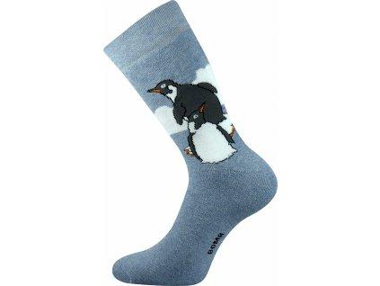 ponozky bedrich tucnaci modra a vesele obrazkove vtipne superfit store