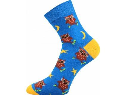 ponozky sovicky weels modra a vesele obrazkove vtipne superfit store