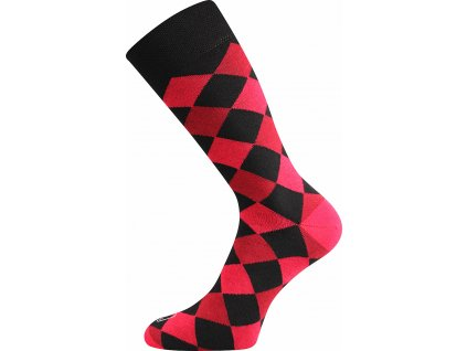 ponozky wearel018 kosoctverce cervena a vesele obrazkove vtipne superfit store