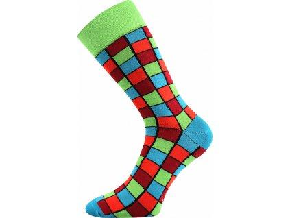 ponozky wearel021 kostky zelena a vesele obrazkove vtipne superfit store