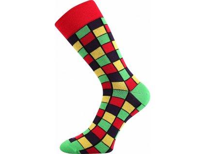 ponozky wearel021 kostky cervena a vesele obrazkove vtipne superfit store