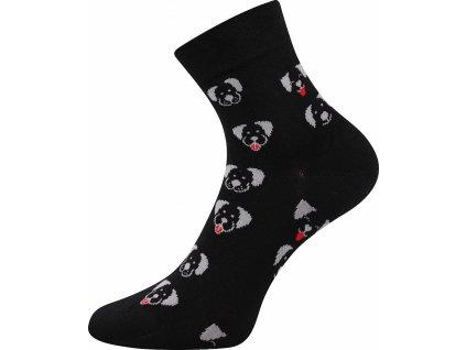 ponozky pejsci felixa cerna a vesele obrazkove vtipne superfit store