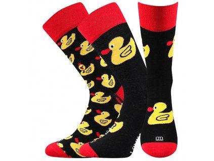 ponozky doble kacenky cerna a vesele obrazkove vtipne superfit store